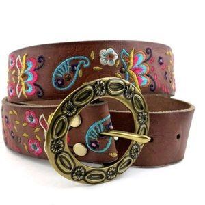 Lucky Brand Embroidered Boho Belt